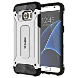 #6: Cubix Tough Armor Slim Rugged Military-Grade Drop Tested Case Defense Shield Shock Resistant Hybrid Heavy Duty Back Cover Case for Samsung Galaxy S7 edge (Silver)