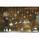 Mitlfuny Frohe Weihnachten Wandaufkleber Winter Fensterbild Weihnachtsmann Weihnachtsbaum Wandsticker