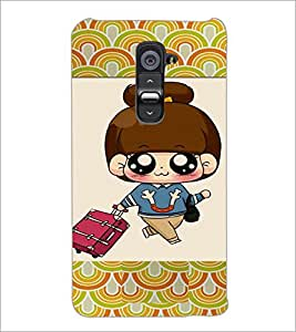 PrintDhaba Cartoon D-4723 Back Case Cover for LG G2 (Multi-Coloured)