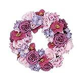 Dekokranz Maila - Blütenkranz - Rosa Pink - ca. Ø 40 cm