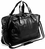 BACCINI Weekender Leder ROBERTO groß Sporttasche Herren 28l Reisetasche echte Ledertasche Herrentasche 50 cm schwarz