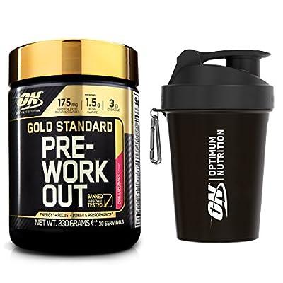 Optimum Nutrition Gold Standard Pre-Workout , Pink Lemonade, 330 g with Shaker from Optimum Nutrition