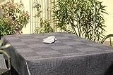 Abwaschbare Gartentischdecken Muster 10x18 cm, Material: 100% Polyester, Farbe: anthrazitgrau, Design: New York