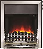 Be Modern Fazer Inset LED Electric Fire Chrome