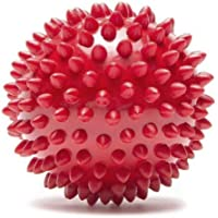 PoochBox Natural Rubber Spiked Ball Dog Chew Toy, Puppy Teething Toy, 3 Inches