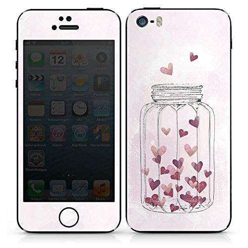 Apple iPhone 6 Case Skin Sticker aus Vinyl-Folie Aufkleber Herzen Liebe Grafik DesignSkins® glänzend