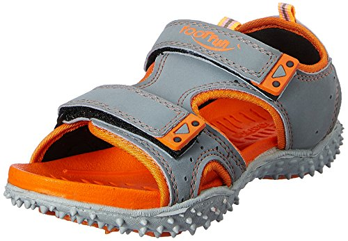 Footfun (from Liberty) Unisex Dark Grey Fashion Sandals - 13 Kids UK/India (32 EU)