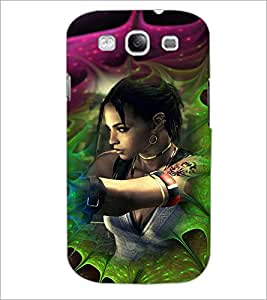 PrintDhaba Bold Girl D-4618 Back Case Cover for SAMSUNG GALAXY S3 (Multi-Coloured)