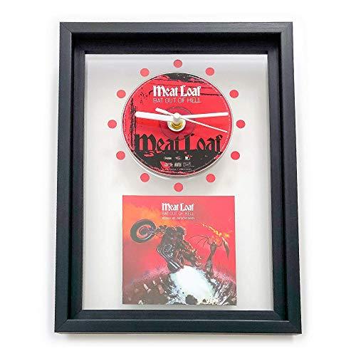 MEAT LOAF - Bat Out Of Hell: FRAMED CD ART CLOCK/Exclusive Design