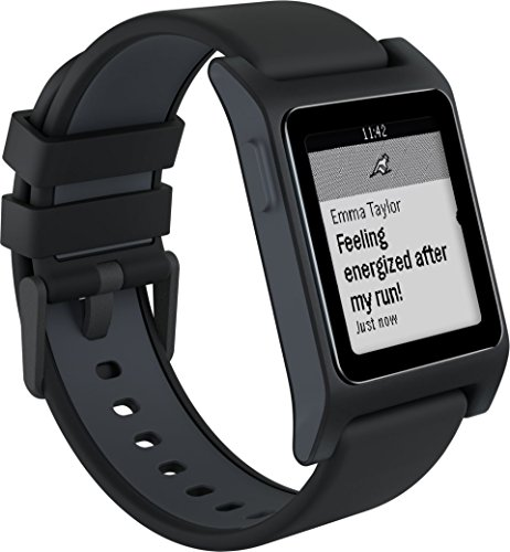Pebble 2 Smartwatch with Heart Rate – Black Cloud