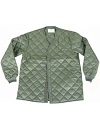 Unissued Unused Genuine Swedish Army Issue Extreme Cold Weather Quilted Olive Jacket Liner