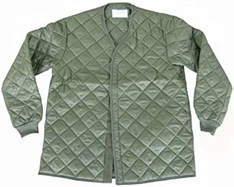 Unissued Unused Genuine Swedish Army Issue Extreme Cold Weather Quilted Olive Jacket Liner (Small)