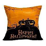 OverDose Damen Halloween Home Cinema Kissenbezug Sofa Taille Wurf Kissenbezug Kürbis Ghosts Decor Ornamente