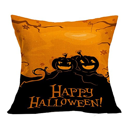 OverDose Damen Halloween Home Cinema Kissenbezug Sofa Taille Wurf Kissenbezug Kürbis Ghosts Decor (Frankfurt Halloween Kostüme)