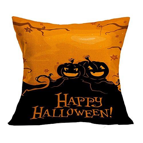OverDose Damen Halloween Home Cinema Kissenbezug Sofa Taille Wurf Kissenbezug Kürbis Ghosts Decor - Ein Halloween-kürbis Gedicht