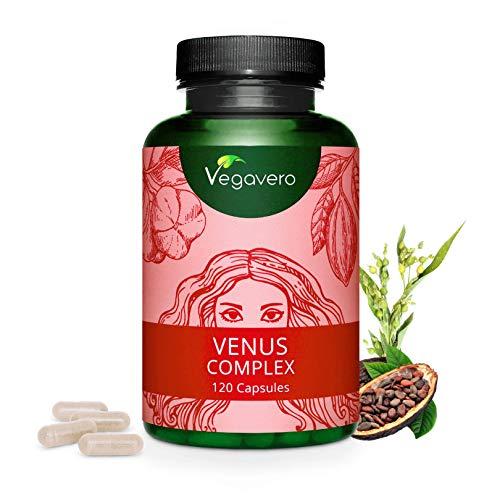 VEGAVERO® Venus Complex | Haut – Haare – Nägel | HOCHDOSIERT | Biotin, Silizium, Zink | Mit der Aminosäure L-Methionin | Vegan | Ohne Zusatzstoffe | Vitamin B Komplex | 120 Kapseln