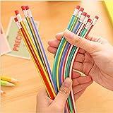Daorier Crayons Flexibles Crayon Doux Magic Bend Crayon à Papier Flexible Pliable Souple 18cm Cadeau idéal pour les enfant (5PCS)