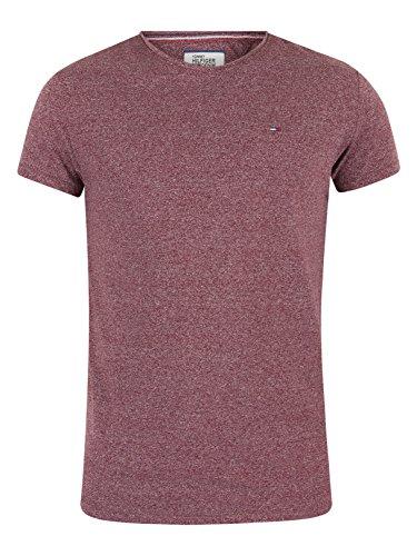 Hilfiger Denim Herren T-Shirt Tjm Basic Cn Knit S/S 25 Rot (Windsor Wine 674)