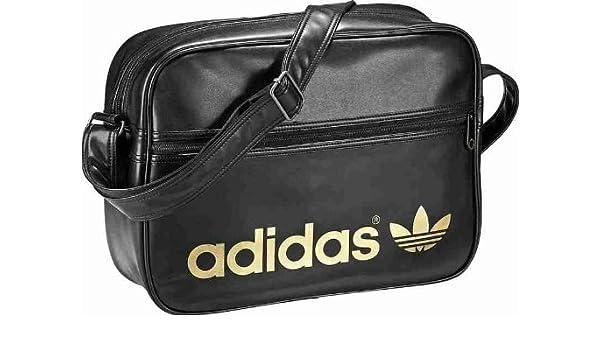 Adidas Airliner Black Gold Bag  Amazon.co.uk  Luggage ead1971c09946