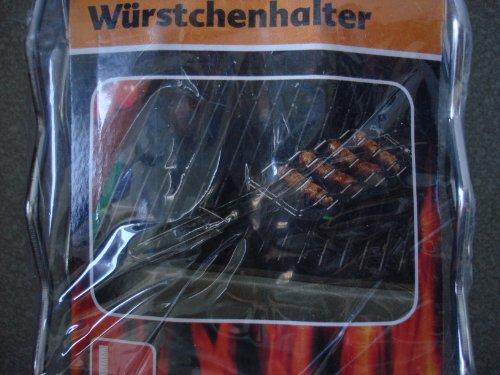 Grill Wursthalter Wurstwender BBQ 4Würste Bratwurst - 3