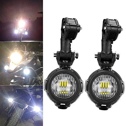 LITTOU 40W LED Motorrad Zusatzscheinwerfer 6000K Super hell Nebel Fahrlicht Kits DRL für Motorrad K1600 R1200G (2ST Licht+Montagehalterung)