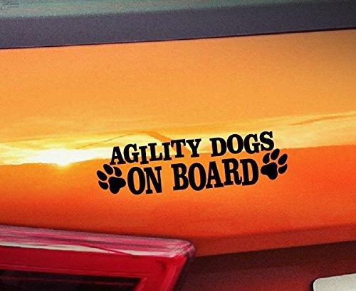 Agility Hunde On Board???Hunde On Board, Welpen, Tiere, hochwertiger Kleber Pfoten golden Window Vinyl Aufkleber Aufkleber Hund -