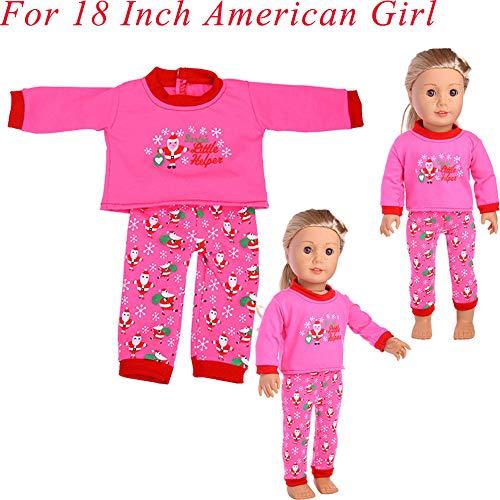 MCYs Weihnachtszusatzkleid spielt Puppenkleidung für 18-Zoll-amerikanische Mädchen-Puppe - Mädchen Puppen Für 18