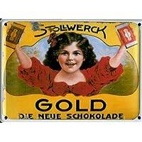 Stollwerck Schokolade Choclate Blechschild Nostalgie Schild 30 cm