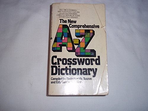 The New Comprehensive A-Z Crossword Dictionary by Redentor M. Tuazon (1974-08-01)
