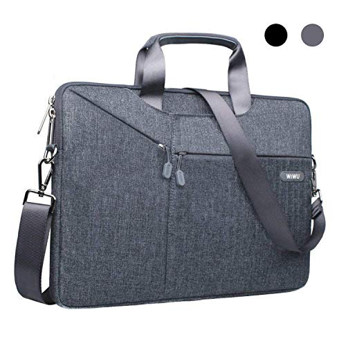 11,6 / 12 Zoll Laptop Notebook Schultertasche, EKOOS 3 Way Business Aktenkoffer Tasche Hülle Sleeve Wasserdichte Notebook Sleeve für Microsoft Surface Macbook Air 11,6 Zoll (11.6 / 12, Grau)