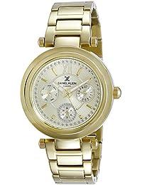 Daniel Klein Analog Gold Dial Women's Watch-DK10958-5