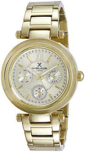 Daniel Klein Analog Gold Dial Women's Watch-DK10958-5 image