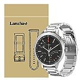 Ceston Metal Acier Classique Bracelet De Remplacement pour Montres Connectées Timex Metropolitan+ (Argent)