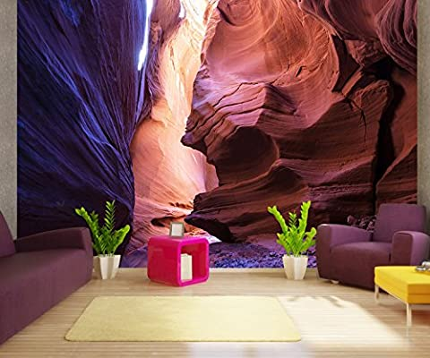 Premium-Vliestapete XXL Slot Canyon Utah, USA Fototapete Premium brilliante Farben Vliestapete | Muster 50 x 35cm - 1 Bahnen | Premium-Vlies