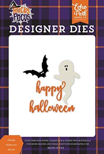 Echo Park Paper Company HO157040 Ghostly Halloween Set Stanzschablone, Violett, Gelb, Schwarz, Orange, Grün