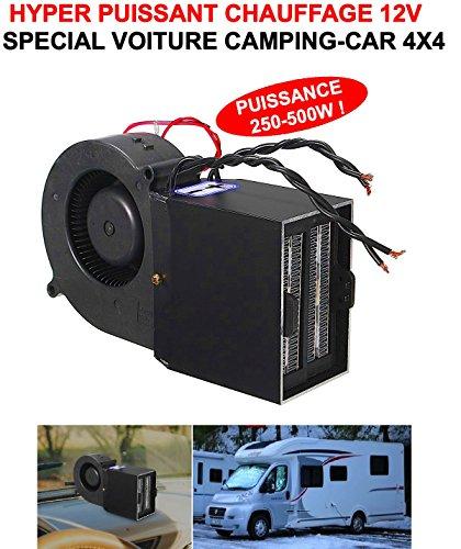 Rare Hyper Puissant ! Compact Chauffage SOUFFLANT 12V 250W - 500W Ultra Puissant Chauffe en 1MN L'HABITACLE ! Vraiment Genial ! Pas Besoin DE Laisser Tourner Le Moteur pour Avoir Chaud !
