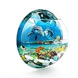 sourcingmap® 260mm Durchm Acryl Wand Montage Hängend Fischglas Pflanze Blase Schale Haus Dekor