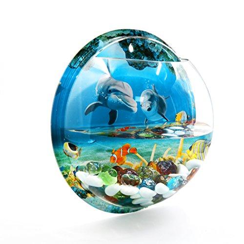 urchm Acryl Wand Montage Hängend Fischglas Pflanze Blase Schale Haus Dekor ()