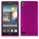 b426a392e18 Cadorabo Huawei P6 Funda Super Delgada de Silicona TPU en Fucsia (Diseño  Brushed) –