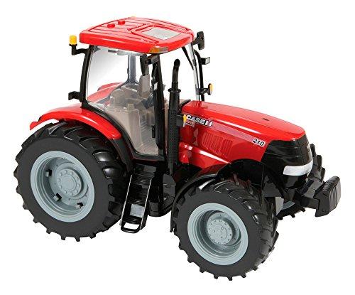 """TOMY Britains Traktor \""""Case IH 210 Puma\"""" in rot - hochwertiger Kinderspielzeug Traktor aus Kunststoff - Fahrzeug für Kinder mit Licht- & Soundfunktion - ab 3 Jahre"""
