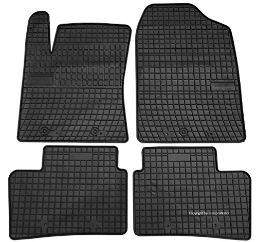 Gummi Auto Matten Fußmatten exakter Passform 4-teilig HYU-0437