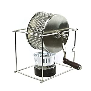 Purposefull Coffee Bean Roaster - Made From Stainless Steel - Manually Operated - Ideal For Home Use - FDA and LFGB Certified