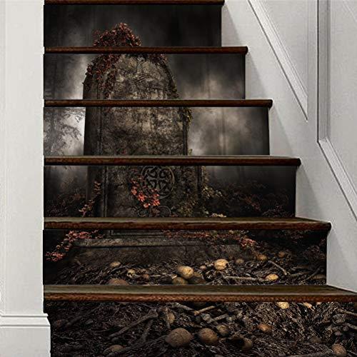 DFGTHRTHRT 3D Simulation Treppenaufkleber entfernbare Wasserdichte Wandaufkleber Schlafzimmer Wohnzimmer DIY Tapete Wandabziehbilder (Color : WLT009, Size : OneSize)