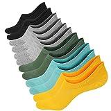 6 Paar Baumwoll Sneaker Ballerina Socken Atmungsaktiv Damen Unsichtbar Kurzsocken für Loafers Boots Schuhe