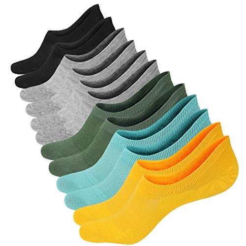 3 or 6 Pairs Cotton Low Cut Liner Socks Women - Non Slip No Show Sneaker Socks for Boat Shoes Loafers