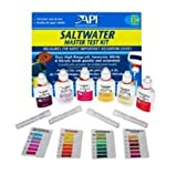 API Saltwater Master Test Kit, Includes laminated color card, 4 test tubes and holding tray