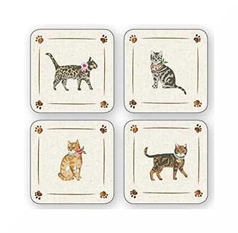 Dessous de Table Lot de 4par Cooksmart & aimant inspirants Cats on Parade