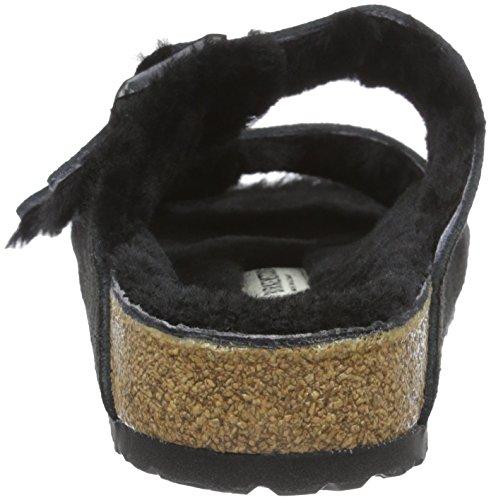 Birkenstock - Arizona Sheepskin Vl 752661, Sandali Donna Nero (Nero (Black/Black))