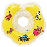 Schwimmring Flipper Schwimmreifen für den Hals Schwimmhilfe (Gelb)