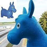 Hüpftier Hüpfesel Hüpfpferd Esel Pferd Hüpfball für kinder in blau